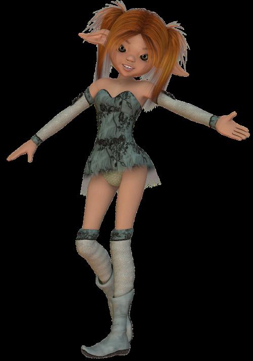 toon figure female