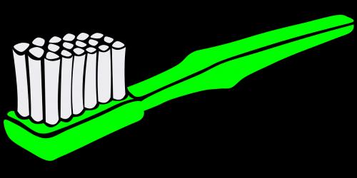 toothbrush green dental