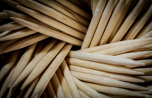 toothpick macro texture