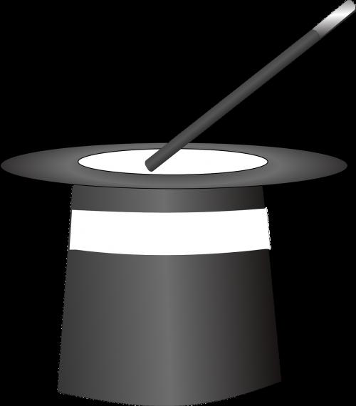 top hat wand magician