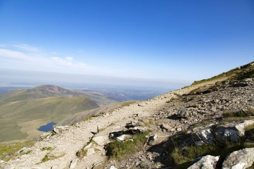 Top Of Mountain In Snowdon