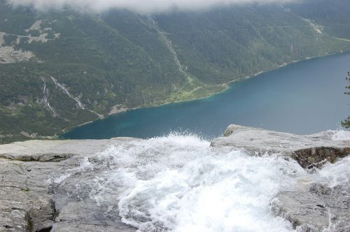 top view landscape tatra