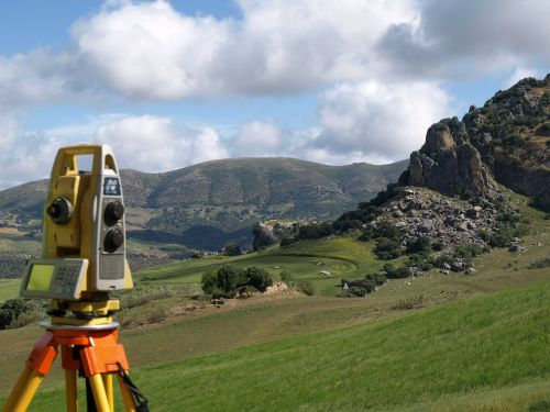 topography station measurement