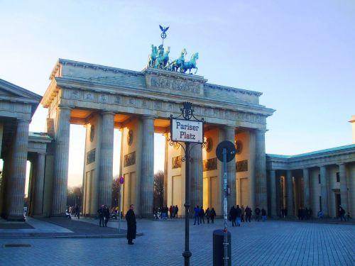 vartų brandenburguer, brandenburgo vartai, Berlynas, Vokietija, Quadriga, parisian place, Vokietija