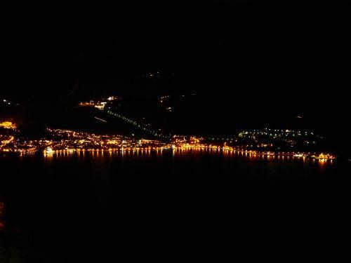 torbole at night coast line