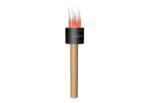 torch isolated light