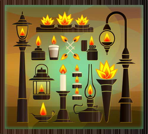 torches flames fire