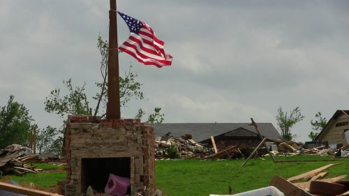 tornado destruction flag