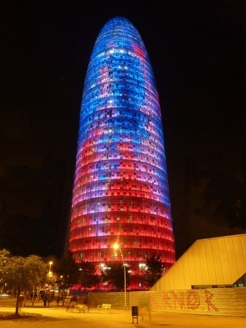 torre agbar building architecture