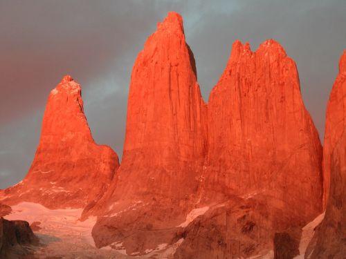 torres del paine mountains granite