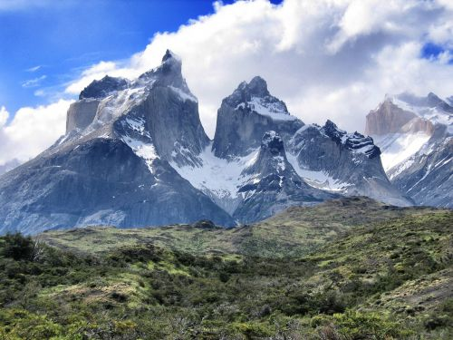 torres del paine south america mountains