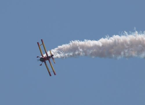 tough day at the office wing walker biplane