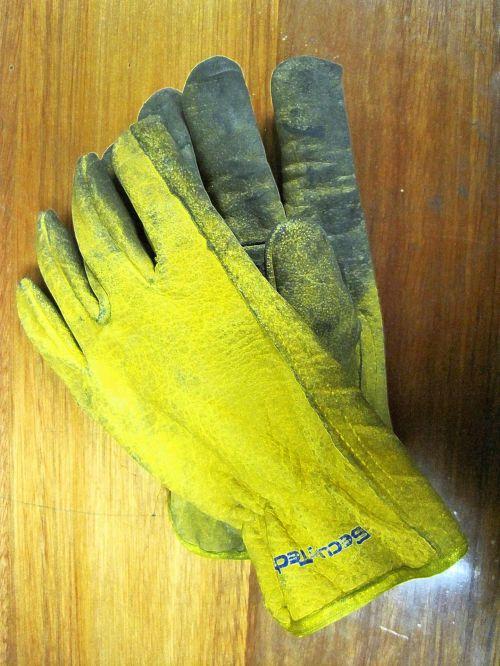 Tough Yellow Gloves
