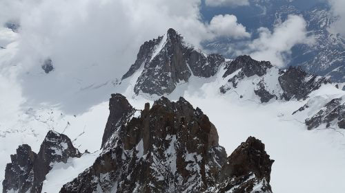 tour ronde glacier high mountains
