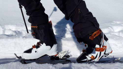 touring skis ski boots ski