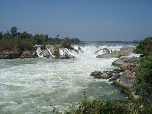 tourism southern laos waterfall