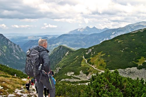 tourism backpack mountains