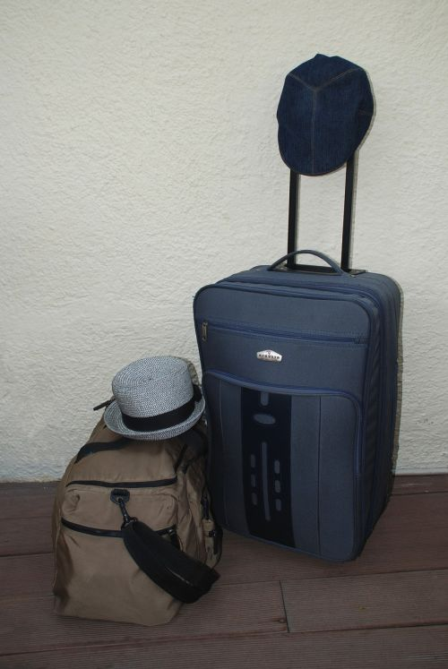 tourists bag suitcase
