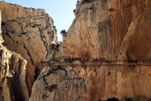 turistai,turizmas,turizmo produktas,pritraukimas,aktyvus turizmas,nuotykis,aukštis,Malaga,Caminito del Rey,ekskursija