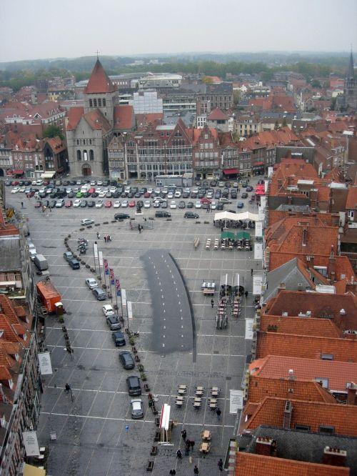 tournai belgium view from above