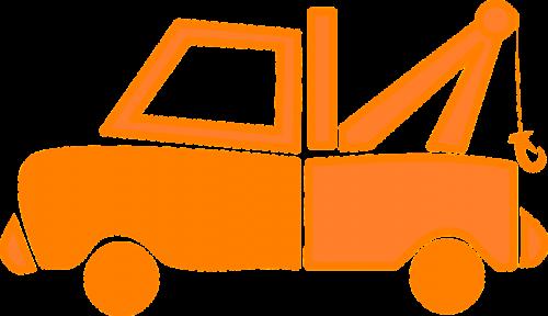 tow truck hauling wrecker