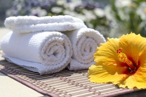 towel hibiscus clean
