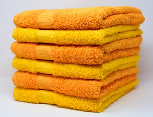 towels yellow orange