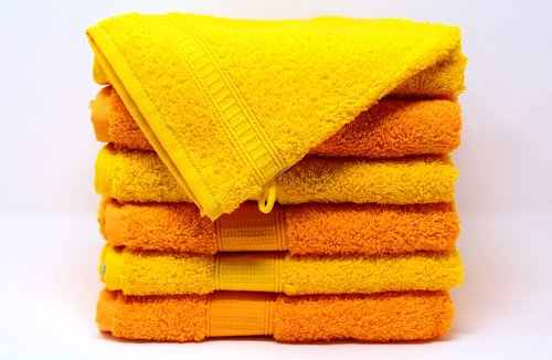 towels  washcloth  yellow