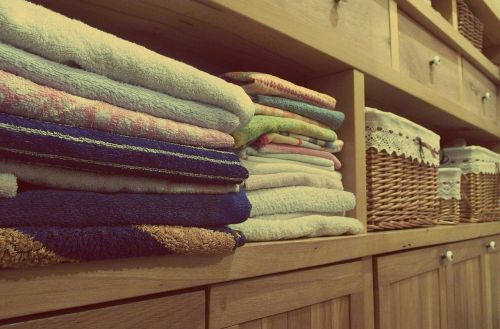 towels dresser cupboards