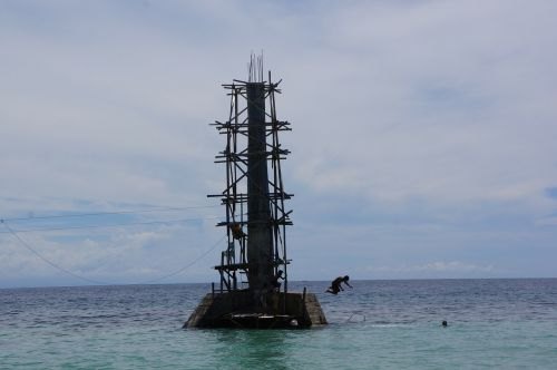 tower ocean sea