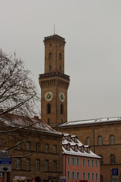 tower snow winter