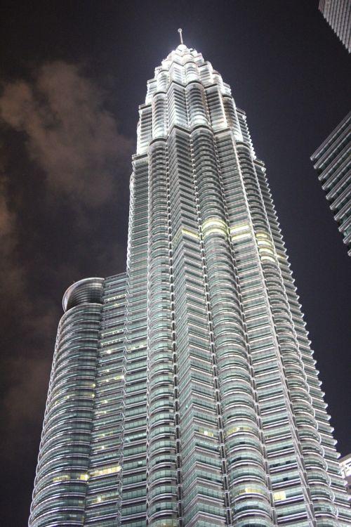 tower lit dark