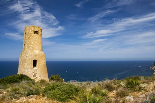 tower sea beach