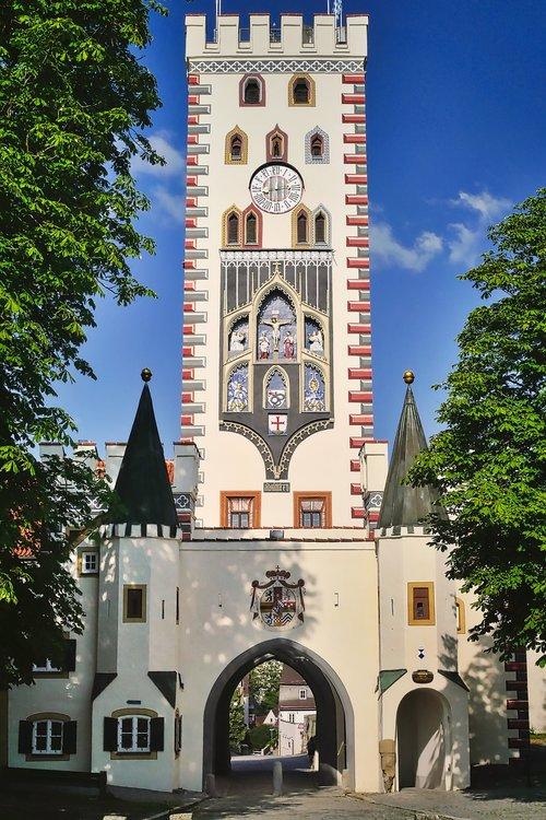 tower  city gate  bayer gate