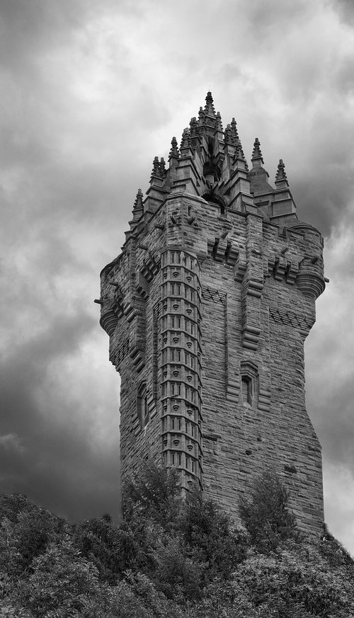 tower  clouds  landmark