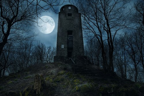 tower  moon  architecture