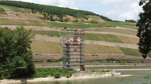 tower rhine landscape