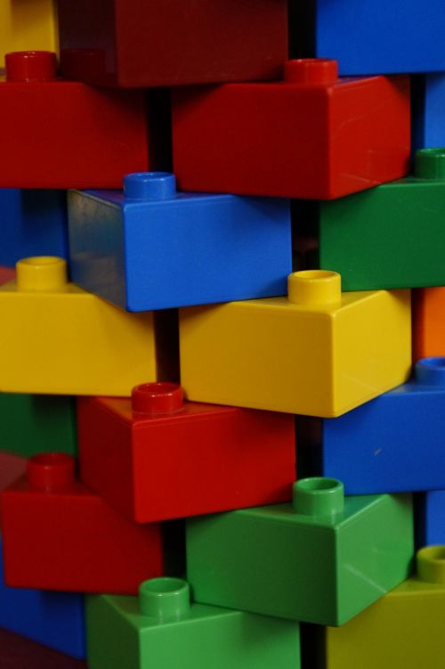 tower stone wall lego blocks