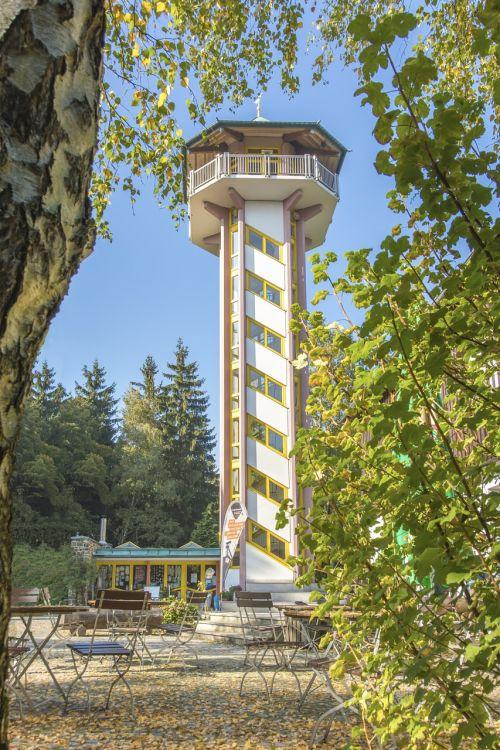 tower autumn scheibenberg