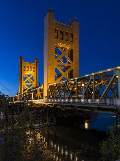 tower bridge sacramento yolo county california