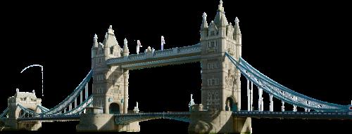 tower bridge isolated london