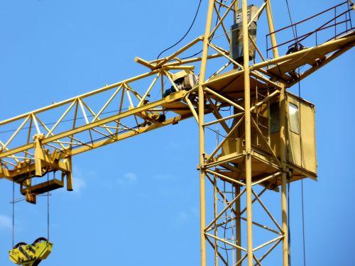 tower crane blue sky white clouds