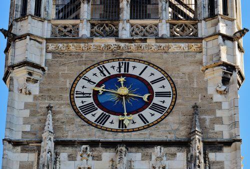 town hall clock tower munich