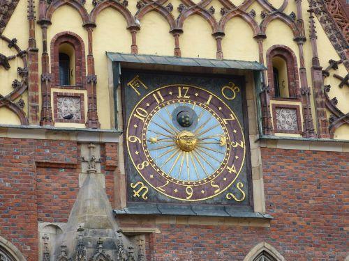 town hall clock clock face