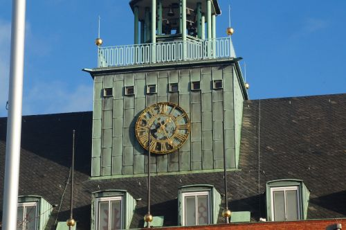 town hall old clock emden