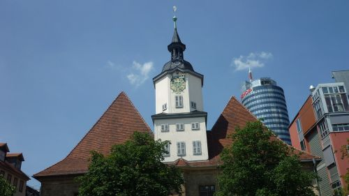 town hall clock tower landmark