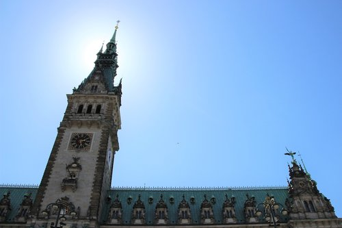 town hall  hamburg  hanseatic city