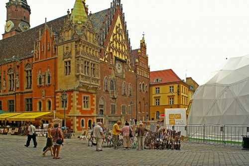town hall wrocław the city centre