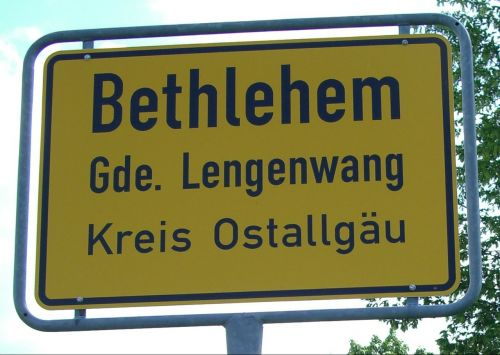town sign allgäu germany