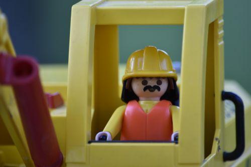 žaislas,playmobile,figūrėlė,miniatiūrinė,vaikai,masteliniai modeliai,ekskavatorius,ekskavatorius-krautuvas